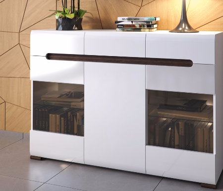 Superb White High Gloss Buffets Sideboards