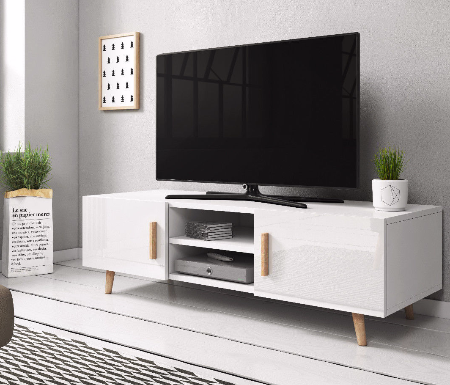White High Gloss TV Stands Units Part 77