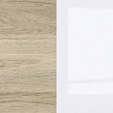 Oak San Remo Light / White High Gloss / White
