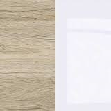 Oak San Remo Light / White Gloss / White