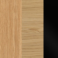 Baltic Oak/ Natural Oak/ Black Gloss