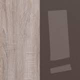 Dark Sonoma Oak / Brown High Gloss