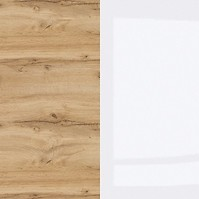 Oak Wotan / White Gloss