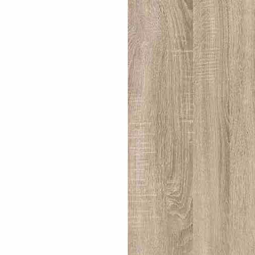 White / Sonoma Oak