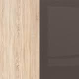 Sonoma Oak / Sonoma Oak / Brown High Gloss