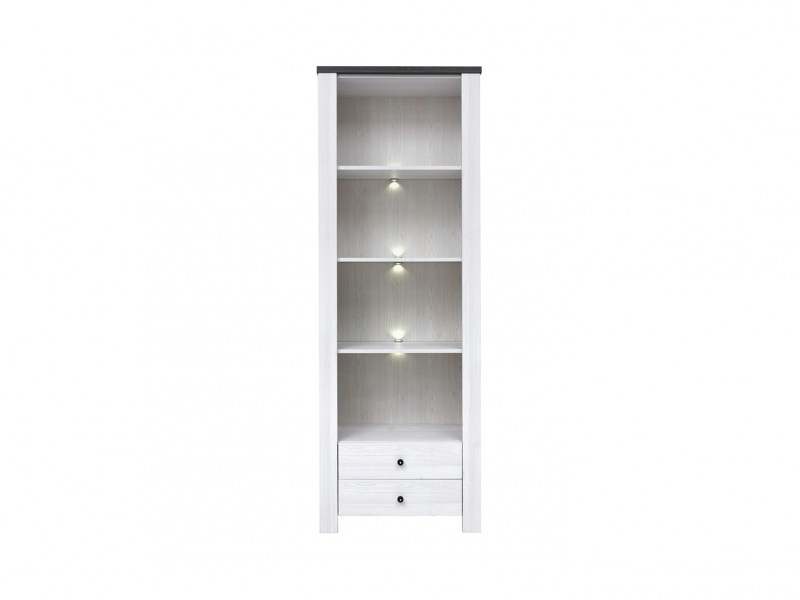 Bookcase Display Cabinet With LED Lighting - Antwerpen (REG2S/20/7)