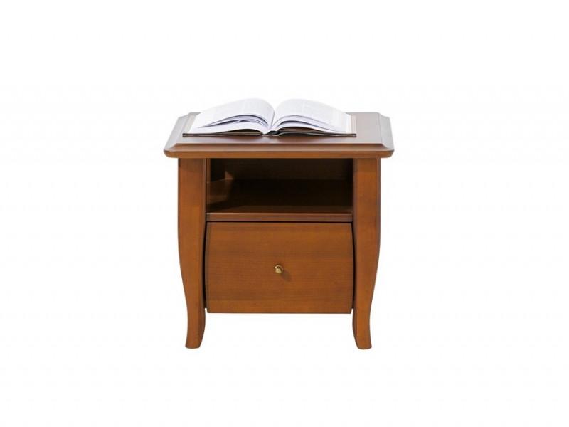 Vintage inspired Bedside Cabinet Table Cherry Wood Veneer 1 Drawer - Orland (KOM1S)