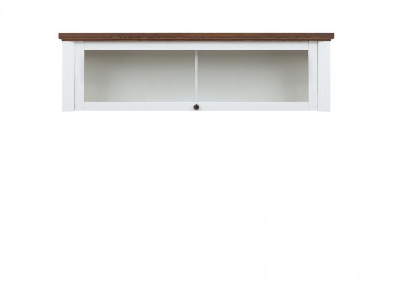 Classic Wall Mounted Wood Cabinet 1-Door Display Shelf Storage Unit White Gloss/Acacia - Kalio (S423-SFW1W-BIP/ACZ/BIP)