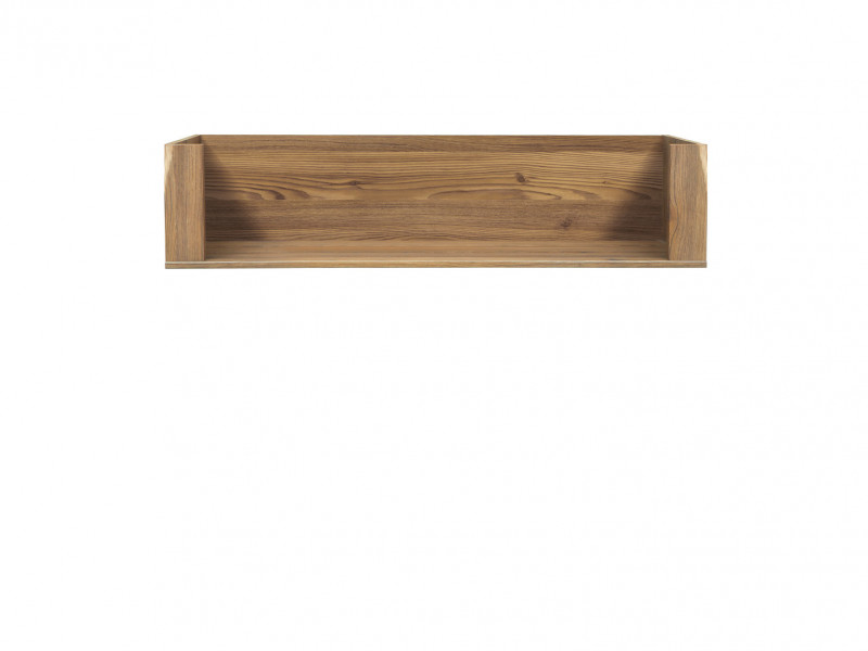 Traditional Wall Shelf 110cm in Oak finish - Bergen (POL/110)