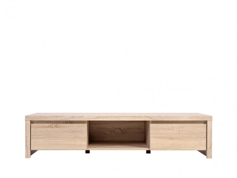 Modern Wide TV Stand Cabinet Sonoma Oak - Kaspian (S128-RTV2S-DSO/DSO-KPL01)