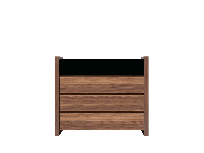 Wide Chest of Drawers Black Gloss - Venom (KOM4S)