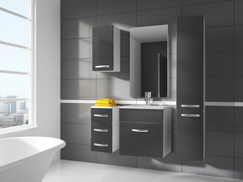 high gloss grey bathroom cabinets bathroom furniture set wall hung cabinets with 600mm sink 23322 | 0bf44e9bc778d76b62efb8614bdf2f16378d8eb3