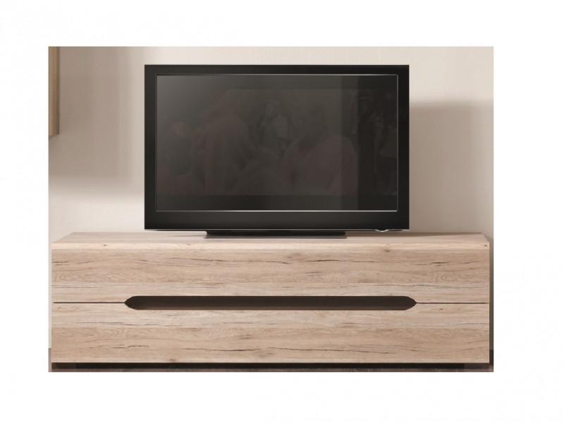 Modern Low 150cm TV Cabinet Unit with Two Full Length Drawers in Light Oak Effect Finish - Elpasso (S314-RTV2S-DSAJ/DWB-KPL01)