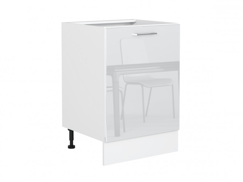 Modern Free Standing White Gloss Kitchen Base Cabinet 1 ...