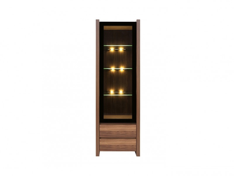 Glass Display Cabinet with LED lights - Venom (REG1W2S)