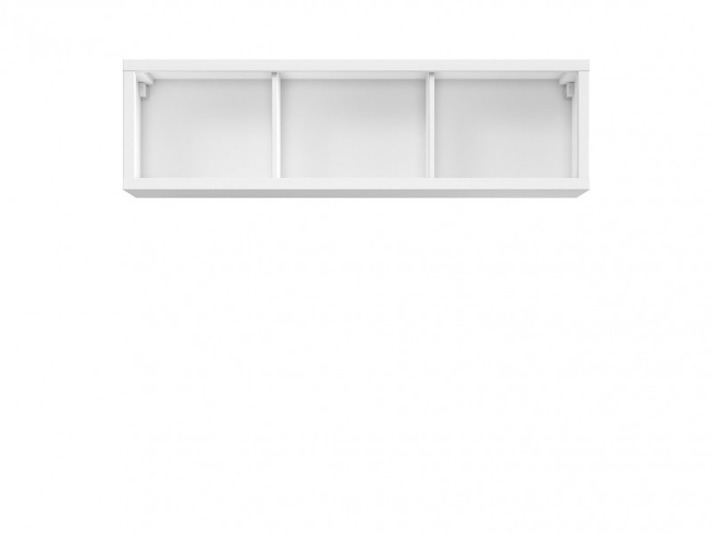 White Wall Cabinet Storage Unit Shelf - Kaspian (S128-SFW/140-BI-KPL01)