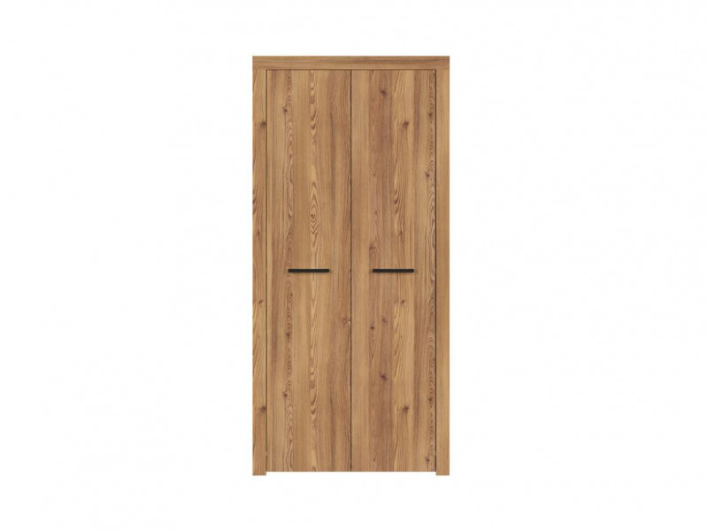 Modern Two Door Double Wardrobe Oak Finish Bedroom Storage - Vasto (S429-SZF2D-MSZ)