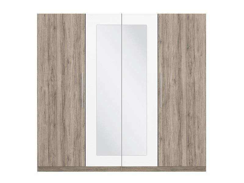 Four Door Wardrobe - Martina (L21-SZF4D-DSA/BI-KPL01)