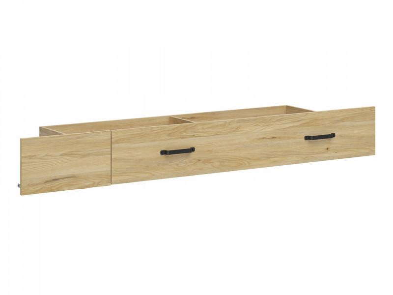 Modern Industrial Chic Under Bed Drawer Storage Black Metal Handles and Blanking Plate Belarus Ash - Lara (S463-SZU-JBE-KPL01)