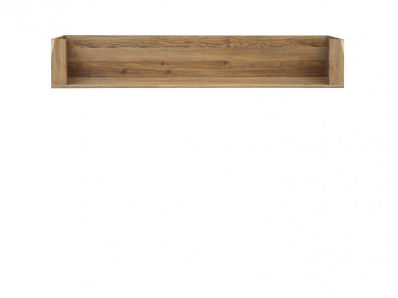 Traditional Wall Shelf 156cm in Oak finish - Bergen (POL/150)