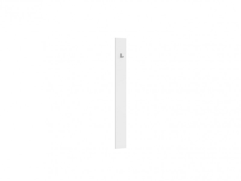 Modern Wall Mounted Coat Hook Hallway Entrance Hall with 1 Hook and White Matt Effect Finish Panel - Nepo (S435-WIE/15-BI-KPL01)