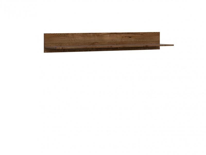 Classic Wall Mounted Storage Floating Shelf Unit Panel Oak/Grey - Kada (S404-POL/149-DARL-KPL01)