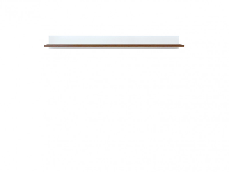 Scandinavian Wall Mounted Display Panel Floating Display Shelf White/Larch - Heda (S385-POL/135-BI/MSZ-KPL01)