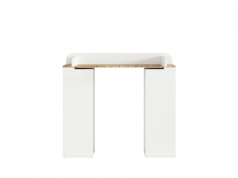 Modern Country Removable Baby Changing Table Dresser Unit White/Oak - Dreviso Baby (S378-PRK-BI/DWM-KPL01)