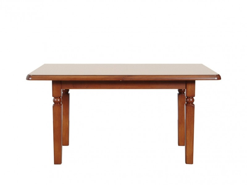 Extendable Dining Room Table (160cm) Classic Style Traditional Furniture Cherry Finish - Natalia (S41-STO160-WIP-KPL04)