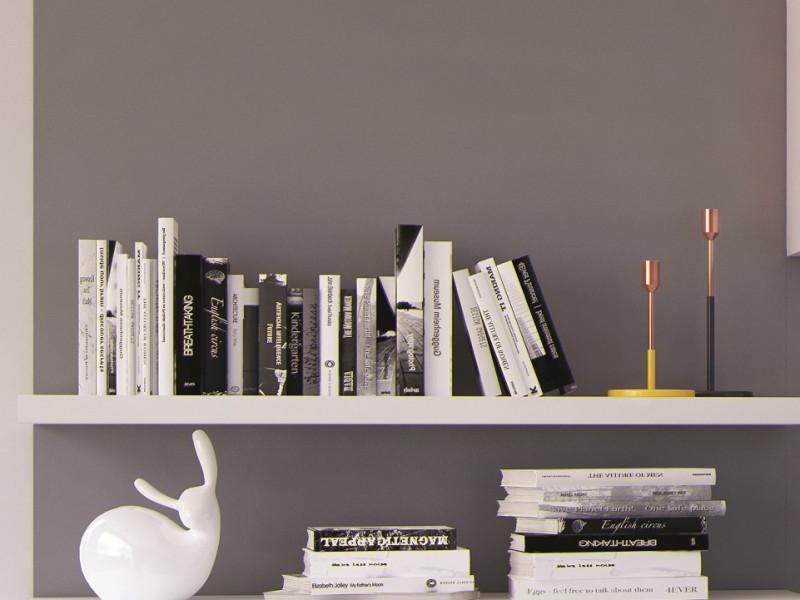 Modern Long Shelf Floating Wall Mounted 143.5cm in White Matt FInish - Kaspian (S128-POL/140-BI-KPL03)