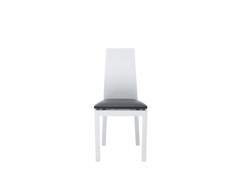 Scandinavian Minimalist White Dining Chair with Black Seat - Antwerpen (AKRT-TX057-1-TK1082)