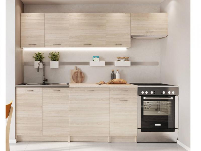 Complete Kitchen Set of 7 Cabinets Units Flat Pack in Sonoma Oak – Nela 2 (STO-NELA_SET-7UNITS_1.8/2.4-SON)