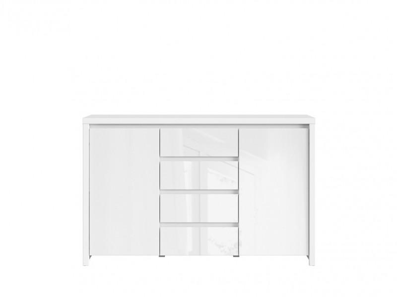 White Gloss Sideboard Dresser Cabinet - Kaspian W (KOM2D4S)