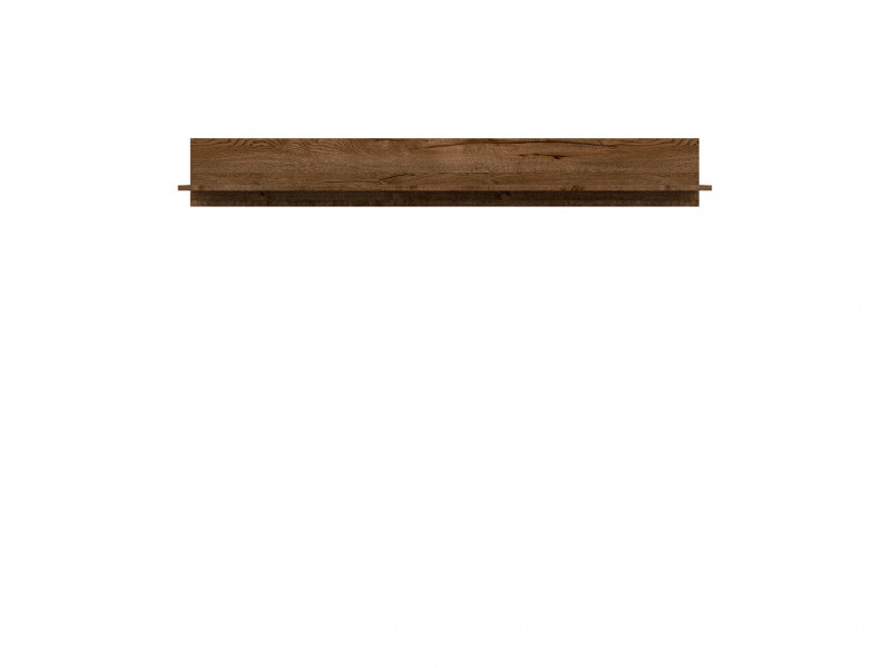 Modern Minimalist Style Floating Wall Shelf in Dark Oak Finish - Ruso (S407-POL/149-DARL)