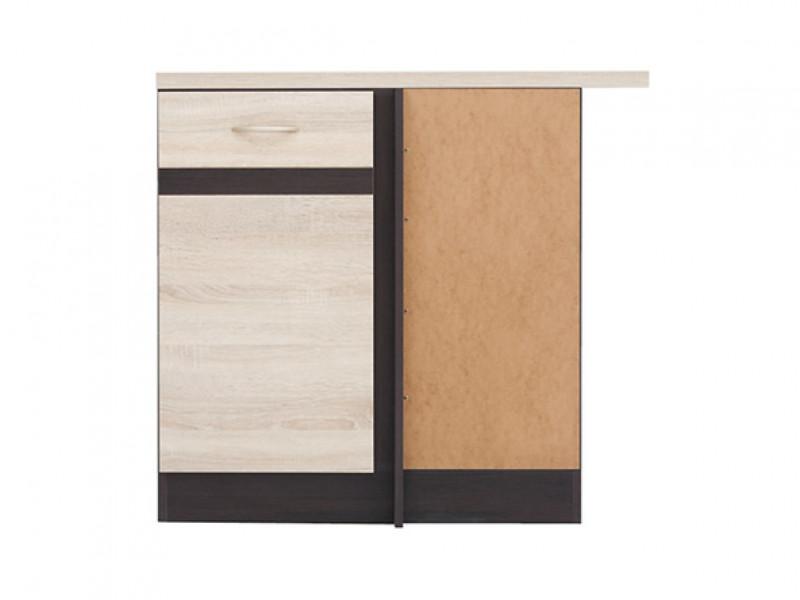 Modern Free Standing Corner Kitchen Cabinet 1000 Base Unit 100cm Right Sonoma Oak - Junona (K22-DNW/100/82_P-WE/WE/DSO/DSO-KPL01)