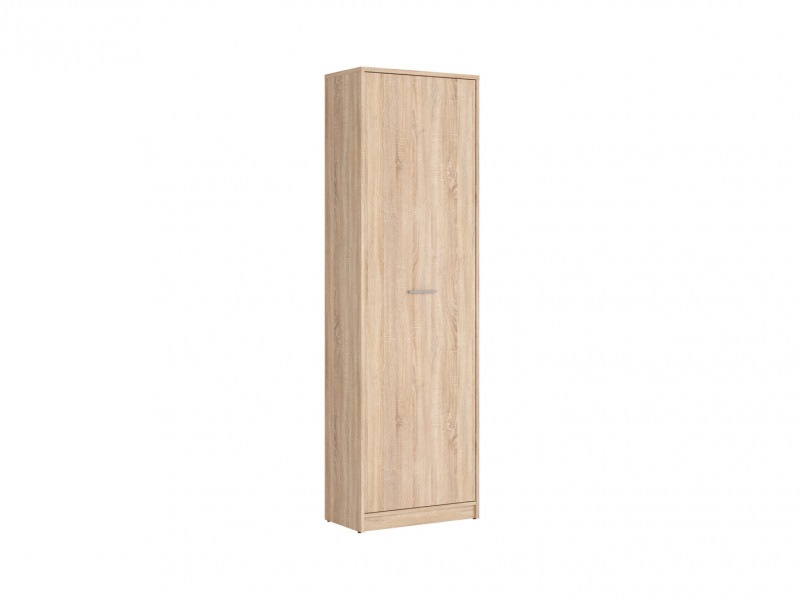 Modern 1 Door 4 Shelves Tall Shelf Cabinet Storage Hallway Bedroom Sonoma Oak Light Wood Effect Finish - Nepo (S435-REG1D-DSO-KPL01)