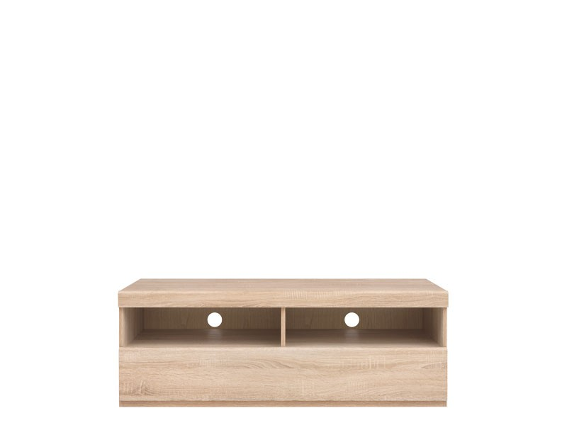 Modern TV Cabinet Media Bench Storage Unit 120cm Sonoma Oak - Academica (S324-RTV1S/120-DSO-KPL01)