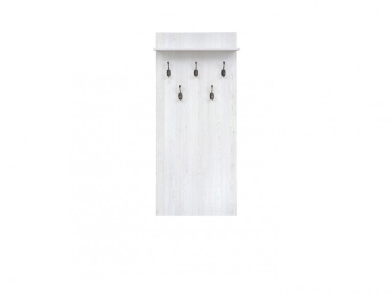 Coat Hooks Hallway Entrance Hall White Wash Wood Effect - Porto (S322-WIE/66-DBV-KPL02)