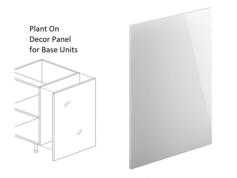 White High Gloss End Panel for Kitchen Base Units Plant On Style H 87cm W 60cm - Antila (HOF-ANTILA-END_PANEL_BASE-BIP-KP01)