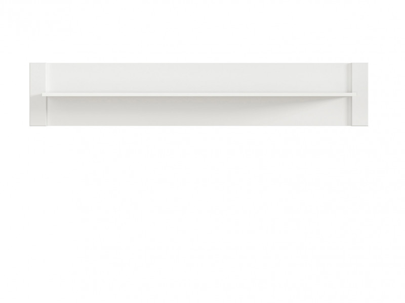 Modern Wall Storage Panel Floating Shelf Unit 160cm White - Dreviso (S378-POL/160-BI)