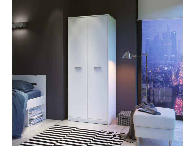 Two Door Wardrobe Modern Bedroom Furniture - Nepo (S301-SZF2D-BI)