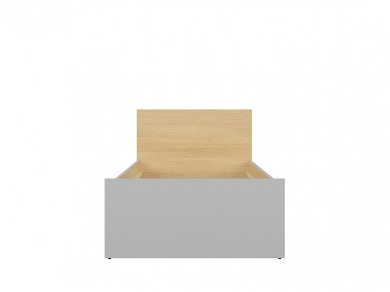 Modern Single Bed Frame 90cm Wooden Slats Headboard Kids Bedroom Grey/Oak - Nandu (S441-LOZ/90-JSZ/DP-KPL01)