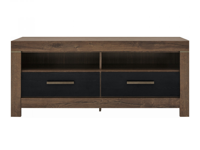 Modern Living Room TV Cabinet Media Bench Storage Cabinet Unit with Drawers Oak - Balin (S365-RTV2S-DMON-KPL01)