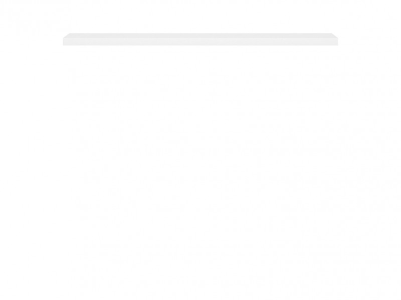 White Floating Wall Shelf 143.5cm - Kaspian W (S128-POL/140-BI-KPL01)