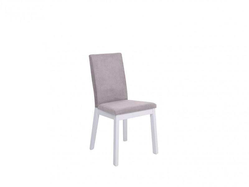 Scandinavian Modern Dining Room Chair White Solid Wood Frame &Grey Velvet Upholstery - Holten (D09-TXK_HOLTEN/2-TX098-1-SORO_90_GREY)