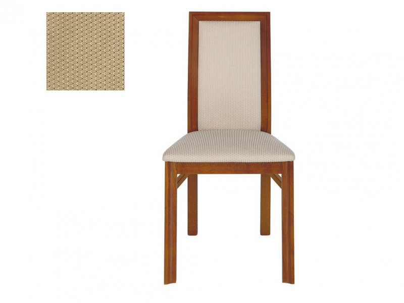Classic Dining Chair Solid Wood Cherry Golden fabric - Alevil (TXK-ALEVIL)