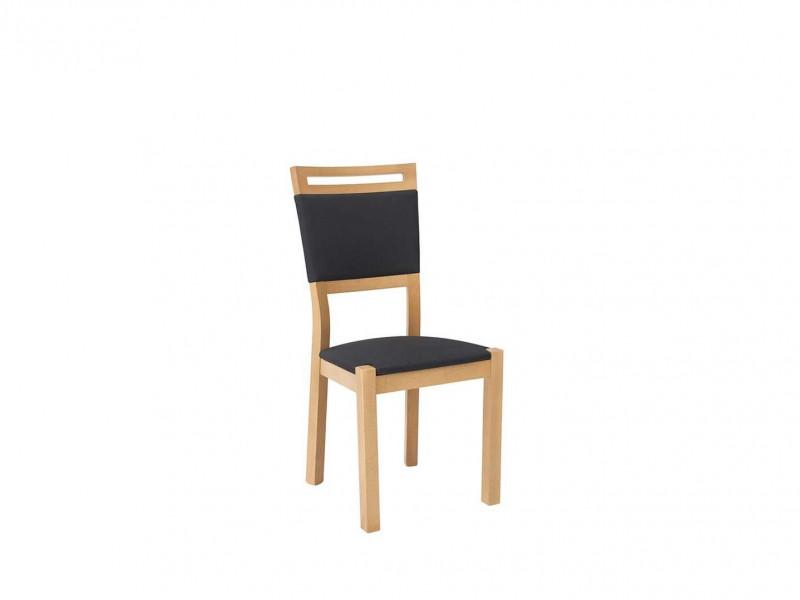 Modern Dining Chair in Black Fabric Solid Wood Frame & Oak Wood Veneer Finish - Arosa (D09-TXK_AROSA/2-TX099-1-TK2052)
