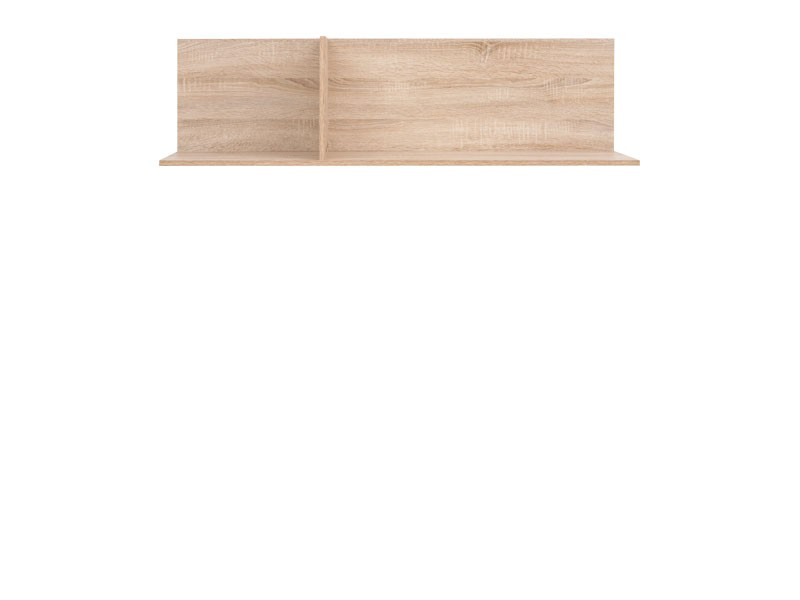 Modern Horizontal Wall Mounted Shelf 120 cm in Sonoma Oak - Academica (S324-POL/120-DSO-KPL01)