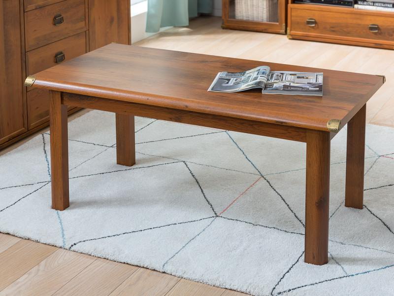 Sturdy 120cm Large Modern Coffee Table Occasional Table in Dark Oak Effect Finish - Indiana (S31-JLAW120-DSU-KPL01)