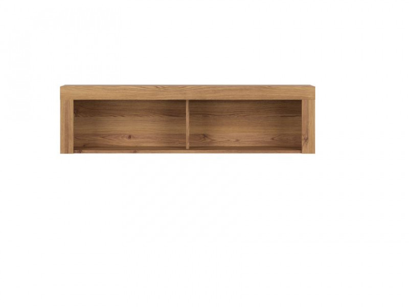 Modern Wall Hanging Cabinet Storage Unit Shelving Panel Oak finish - Vasto (S429-SFW/120-MSZ)